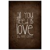 Epic Art 'Coffee Love' by Monika Strigel Textual Art on Canvas