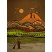 Epic Art Psychedelic Mountains Graphic Art on Canvas