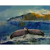 Epic Art Whale Song Painting Print on Canvas