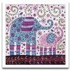 <strong>Epic Art</strong> Playroom Bliss Elephant Walk Framed Art