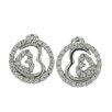 Splendor Jewelry Double Hearts Stud Earrings