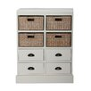 Gallerie Decor Nantucket 4 Drawer 4 Basket Chest