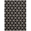 Kathy Ireland Home Gallery Hollywood Shimmer Onyx Black/Grey Area Rug
