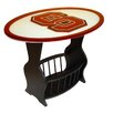 <strong>Fan Creations</strong> NCAA Glass End Table