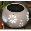 SunTime Outdoor Living Vase with Solar Powered LED