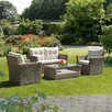 SunTime Outdoor Living Causeway Bay Semi 4 Piece Seating Group with Cushion