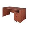 "Regency Sandia 60"" Credenza Desk with Mobile Box/File Pedestal"