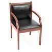 <strong>Regent Wood and Leather Guest Side Chair</strong> by Regency
