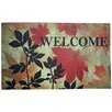 J and M Home Fashions Welcome Leaves Printed Doormat