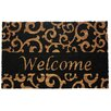 <strong>Welcome Scroll Doormat</strong> by J and M Home Fashions