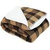 J and M Home Fashions Jacquard Sherpa Fleece Throw Blanket
