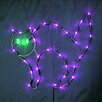 """Queens of Christmas 18"""" Holloween Cat 35 LED"""