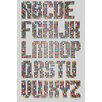 Maxwell Dickson 'Alphabet Dots' Textual Art on Wrapped Canvas