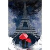 "Maxwell Dickson ""Rainy Night in Paris"" Graphic Art on Canvas"