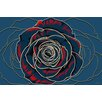 "Maxwell Dickson ""Rose"" Graphic Art on Canvas"