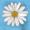 "Maxwell Dickson ""White Daisy"" Graphic Art on Canvas"