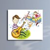 Maxwell Dickson Father Playing Guitar with Children Graphic Art on Canvas