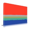 Maxwell Dickson 'Setting Sky' Abstract Graphic Art on Wrapped Canvas