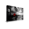 Maxwell Dickson 'Red Chair' Abstract Graphic Art on Wrapped Canvas