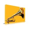 Maxwell Dickson 'Sound the Trumpet' Music Graphic Art on Wrapped Canvas