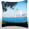 Maxwell Dickson Panoramic Cityscape Throw Pillow