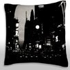 Maxwell Dickson New York Cityscape at Night Throw Pillow