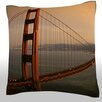 Maxwell Dickson Golden Gate Bridge at Sunset Throw Pillow