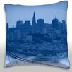 Maxwell Dickson San Francisco Skyline, California Throw Pillow