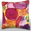 Maxwell Dickson Colorful Stones Throw Pillow