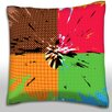 Maxwell Dickson Color Splotches Throw Pillow