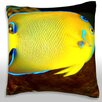 Maxwell Dickson Queen Angel Fish (Holacanthus Ciliaris) Throw Pillow