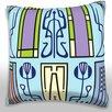Maxwell Dickson Abstract Art Deco Throw Pillow