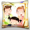 Maxwell Dickson Portrait of Family with One Child Throw Pillow