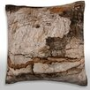 Maxwell Dickson Close-Up of Bark Throw Pillow