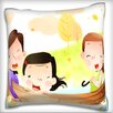 Maxwell Dickson Family on Boat Throw Pillow