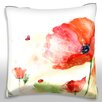 Maxwell Dickson Red Tender Flower Throw Pillow