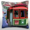 Maxwell Dickson A San Francisco Trolley Car Throw Pillow