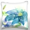Maxwell Dickson Blue Lotus Flower Throw Pillow