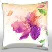 Maxwell Dickson Purple Flower Lily Throw Pillow