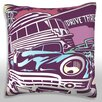 Maxwell Dickson Cars at the Diner Throw Pillow