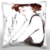 Maxwell Dickson Young Lady Throw Pillow