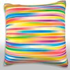 Maxwell Dickson Multicolored Stripes Throw Pillow