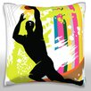 Maxwell Dickson Basketball Player Throw Pillow