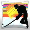 Maxwell Dickson Hockey Player Throw Pillow