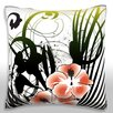 Maxwell Dickson Butterfly Flying Above Flowers Throw Pillow