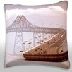 Maxwell Dickson Clouds Over Richmond-San Rafael Bridge, California, USA Throw Pillow