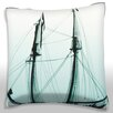 Maxwell Dickson Tall Mast Sailboat Throw Pillow