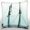 Maxwell Dickson Tall Mast Sailboat Throw Pillow