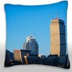 Maxwell Dickson Skyscrapers in a City, Boston, Massachusetts, USA Throw Pillow