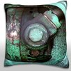 Maxwell Dickson Close-Up of Industrial Machinery Throw Pillow